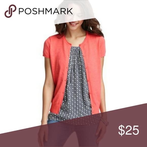 SUMMER SALE! LOFT Pink Short Sleeve Cardigan | Pink shorts, Summer ...
