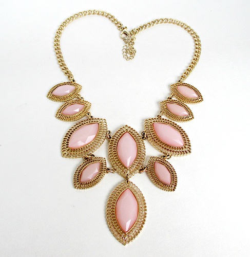 Peach Teared Statement Necklace