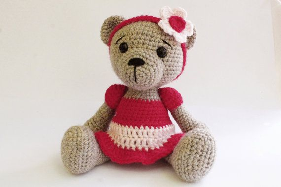 Pattern Bear Teddy Bear Girl Amigurumi Bear Pattern Bear Skirt