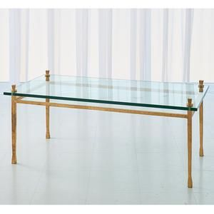 Quad Pod Cocktail Table Gold Leaf In 2019 Table Glass