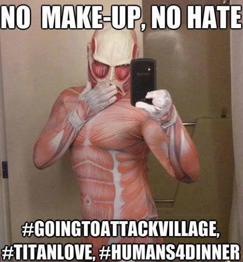 if colossal titan had an ig... | Attack on titan funny ...