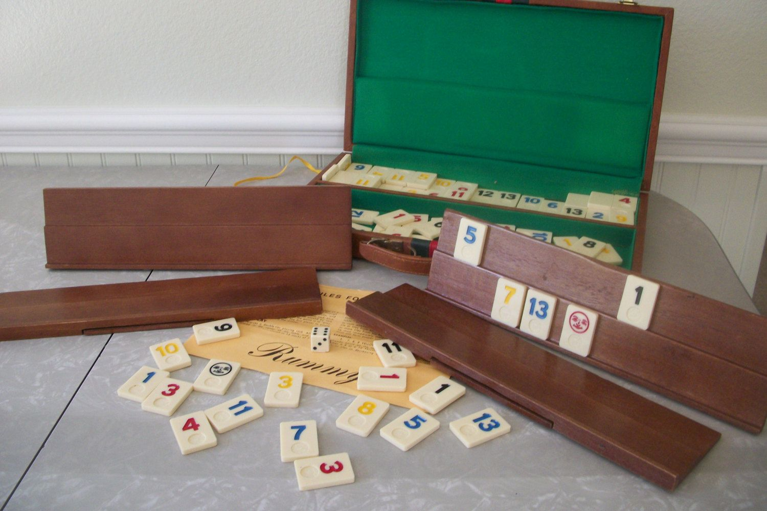 Vintage Rummy Tile In Vinyl Brown Case With Instructions Set Great Condition By Twocrazyhearts On