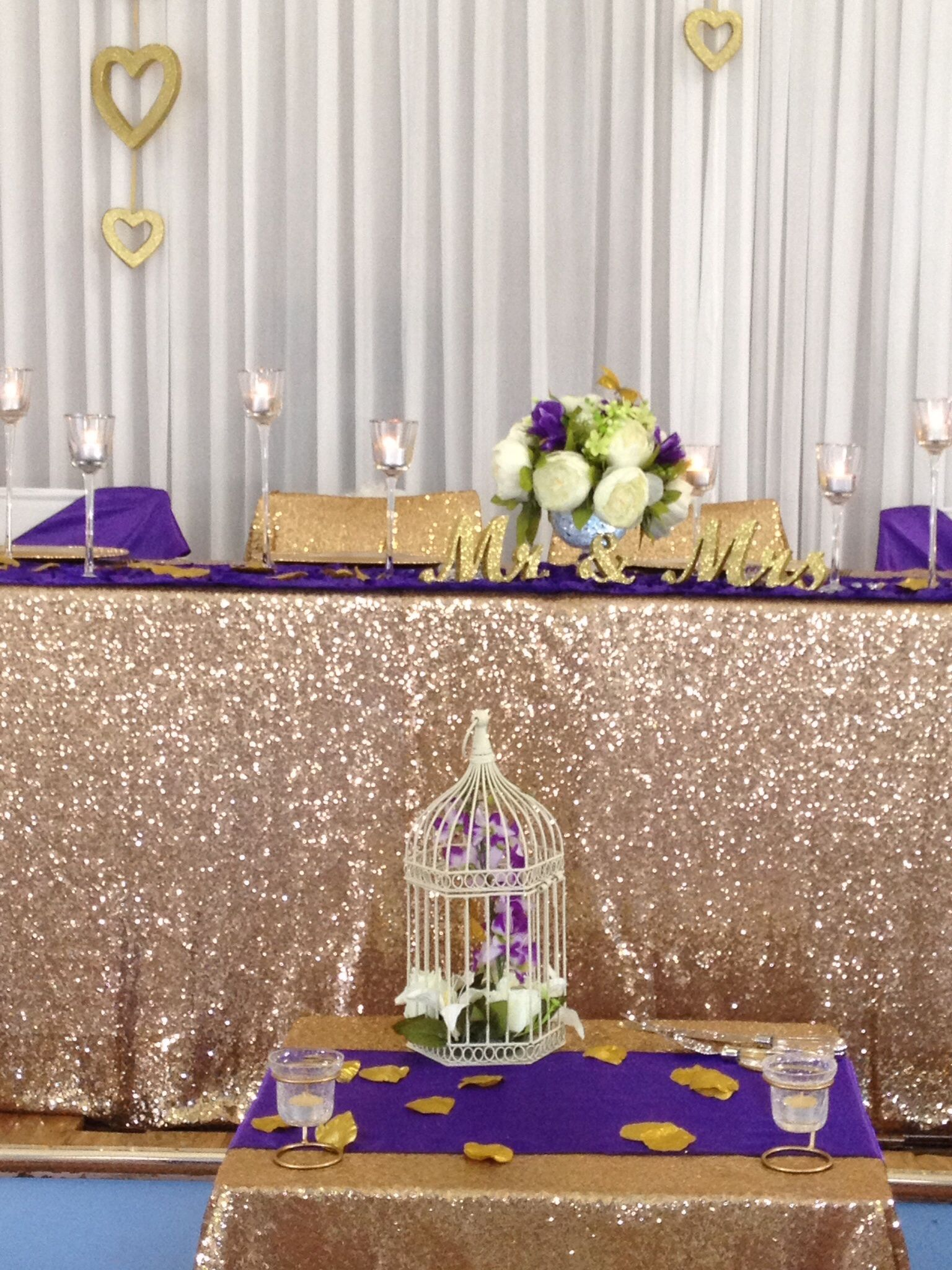 sequin tablecloth sequins gold glitter peonies purple small