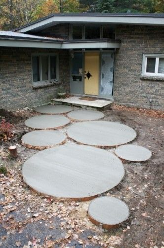 Concrete Circles - Front Entrance