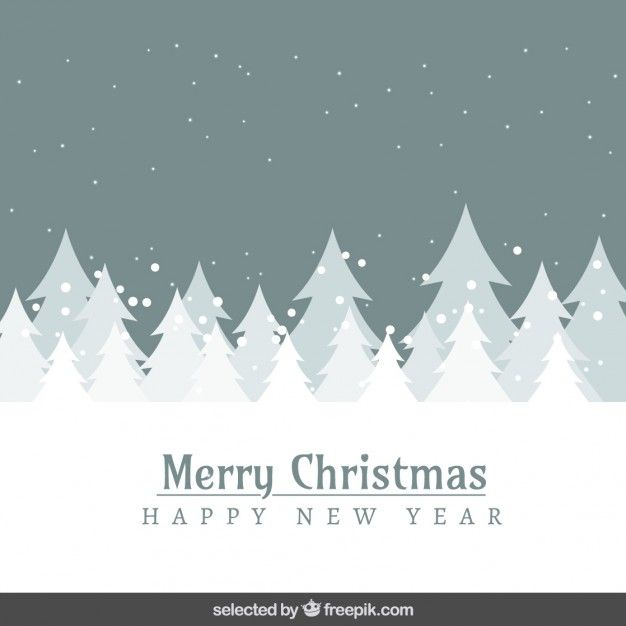 Download Grey Snowy Landscape And Trees Christmas Card For Free Corporate Christmas Cards Holiday Design Card Christmas Cards Free