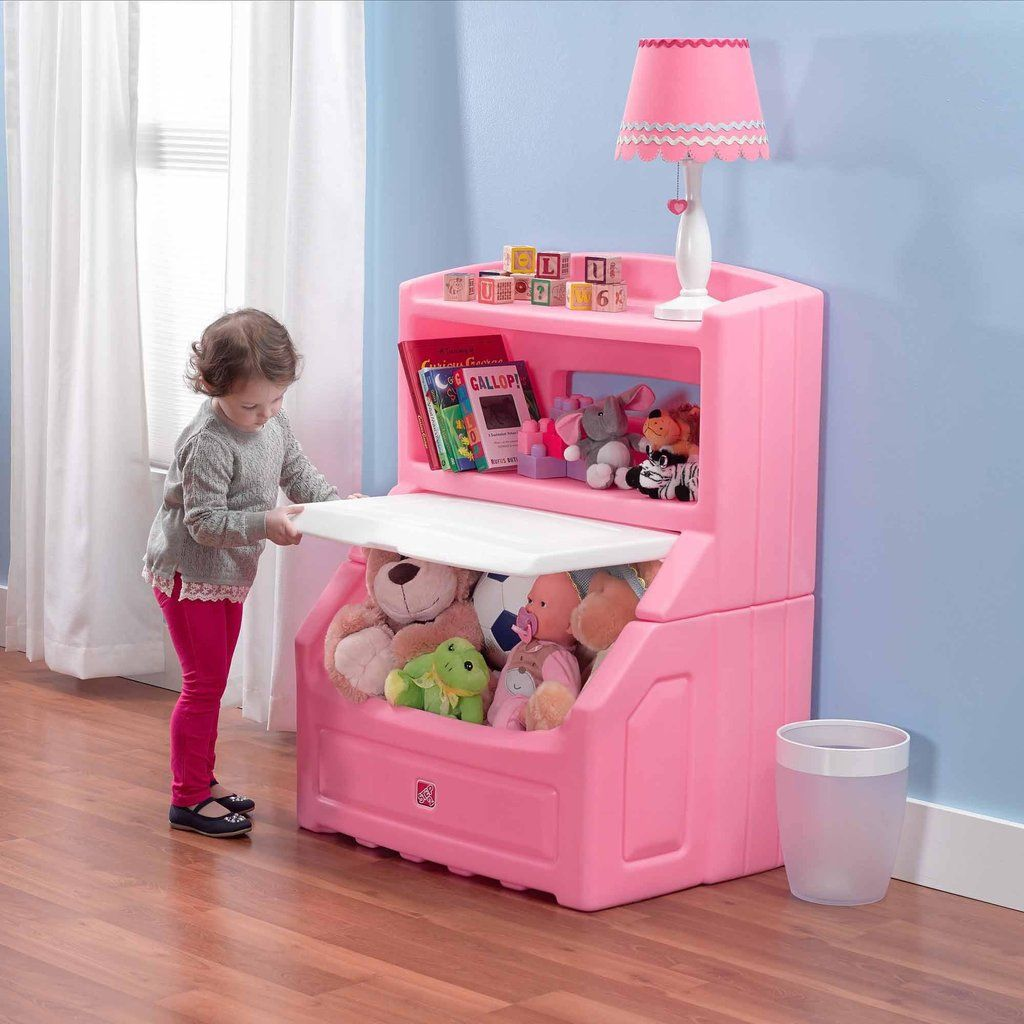 Kids Pink Bookcase And Storage Toy Chest Vick S Great Deals Kids Storage Bins Bookcase Storage Kids Bedroom Furniture