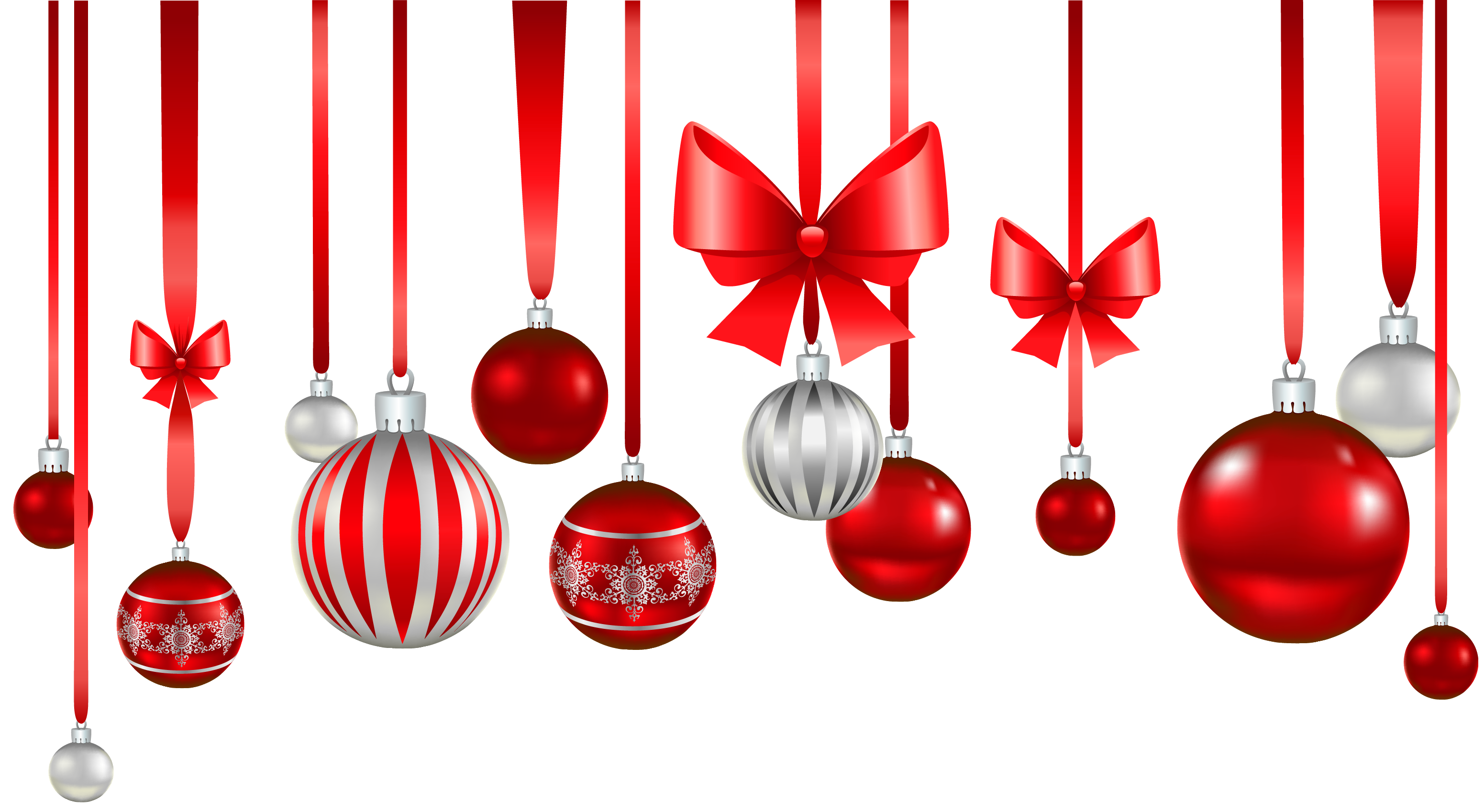 Christmas Red White Balls Ornament Png Picture Png 3102 1698 Christmas Decoration Items Red Christmas Decor Red Christmas Ornaments