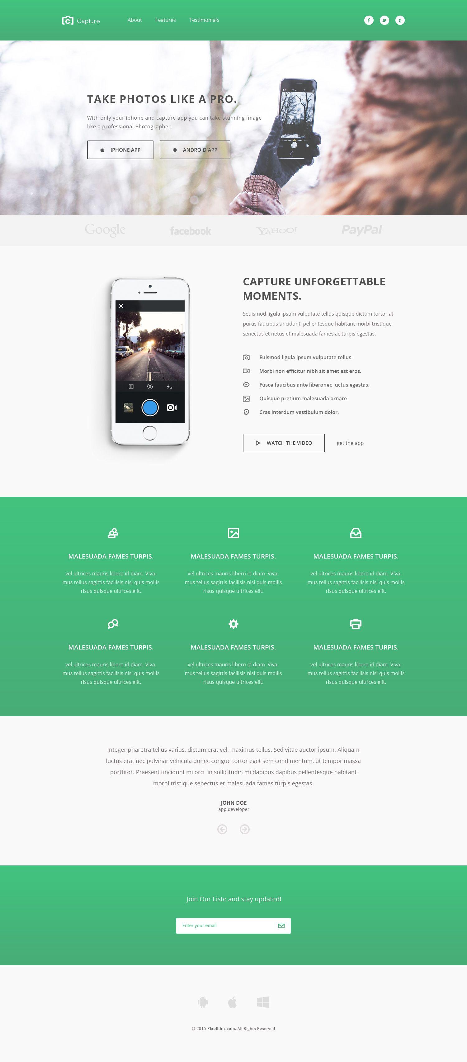 Capture Free Responsive Bootstrap App Landing Page Theme Celevye Stranicy Shablon Sajta Shablony