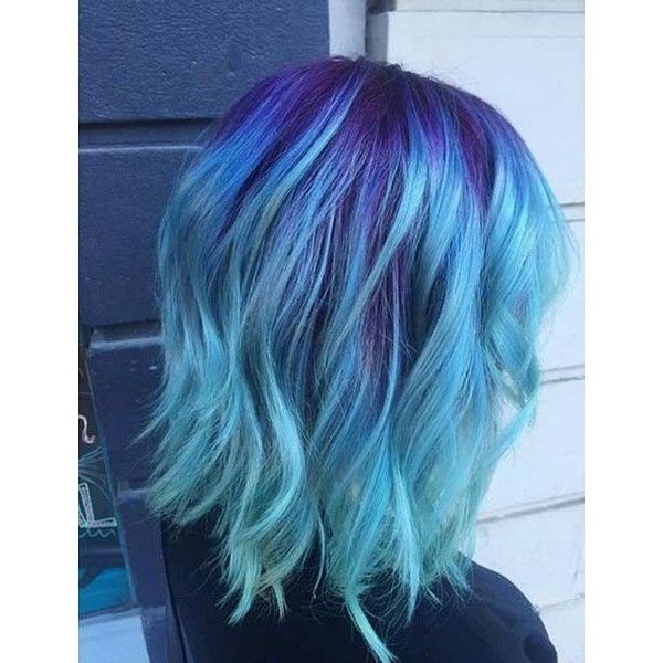 Light blue hair dye liked on polyvore featuring beauty products what better way to give yourself a brand new hair look than by changing the color entirely these 25 amazing blue and purple hair looks are perfect solutioingenieria Images