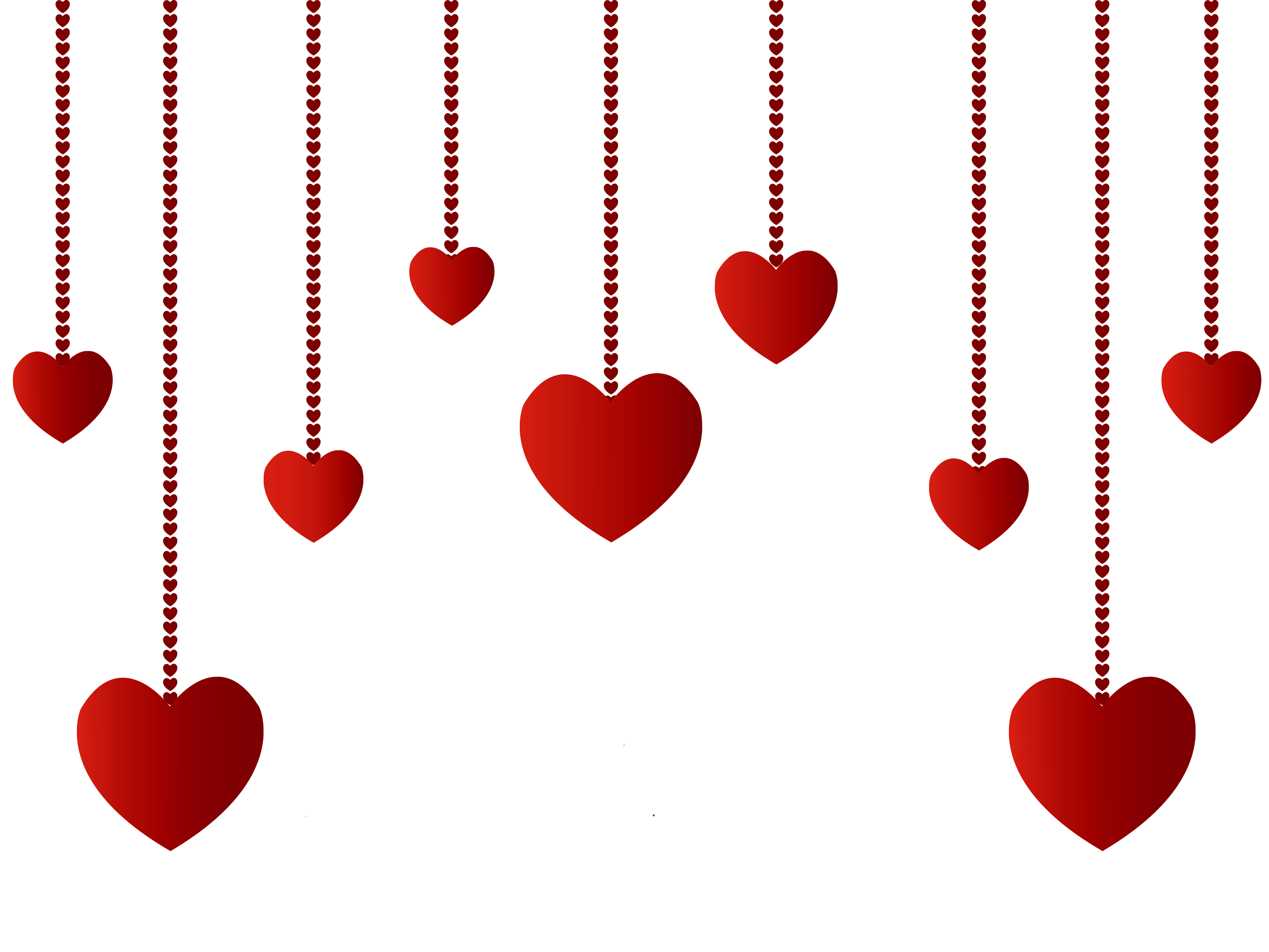 Hanging hearts decoration png picture clipart for Decoration png