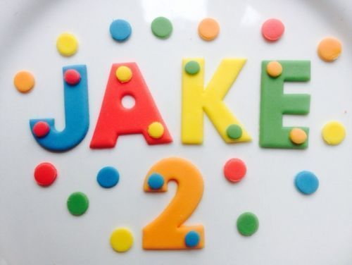 cake topper plain letters in  colour of your choice Edible sugarpaste letters