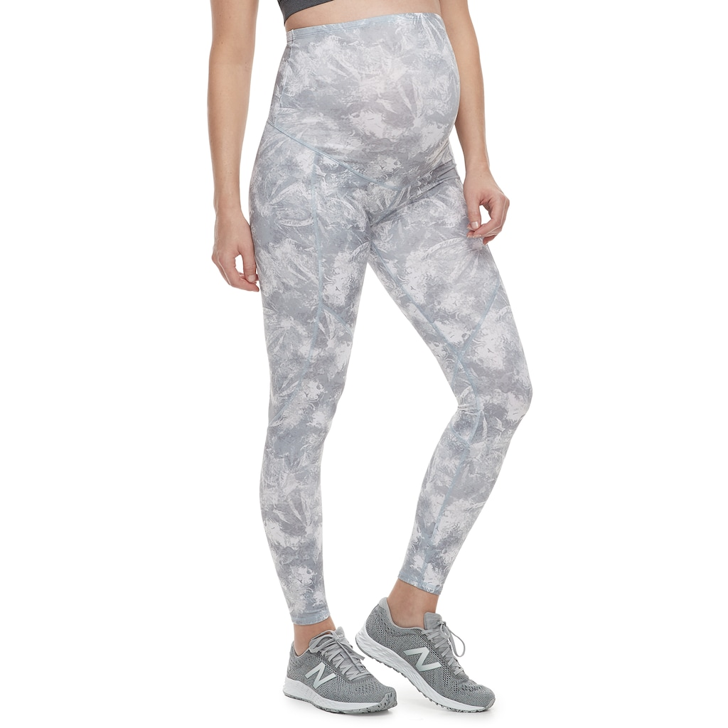 3c88bf36f5 Maternity a glow Belly Panel Workout Leggings