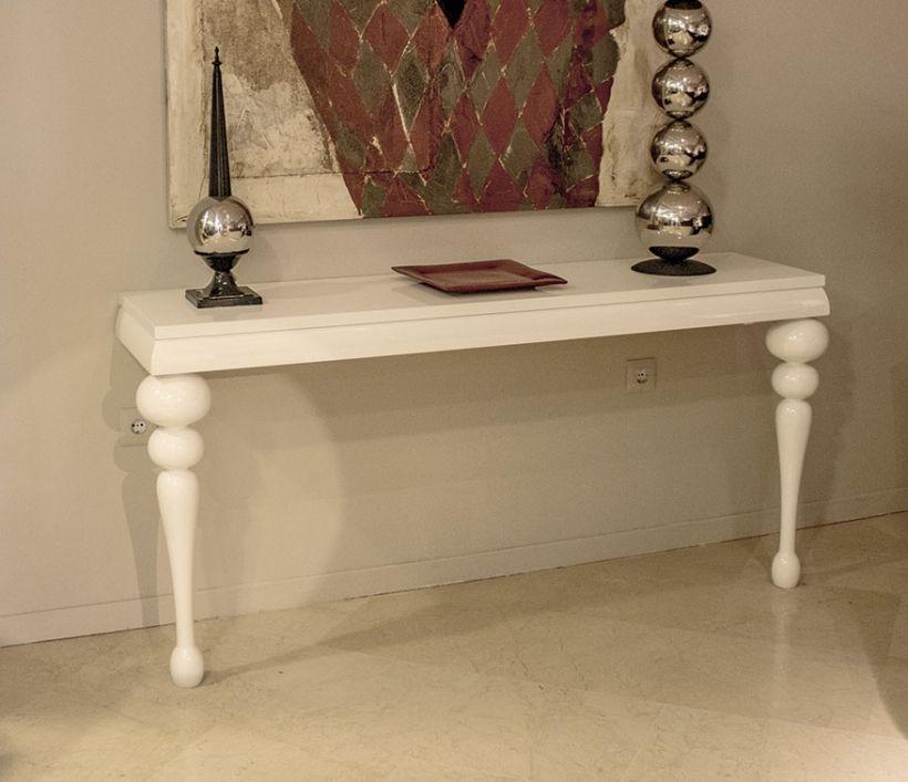 Mesa de dos patas blancas mesas consolas de dos patas pinterest - Patas conicas para mesas ...