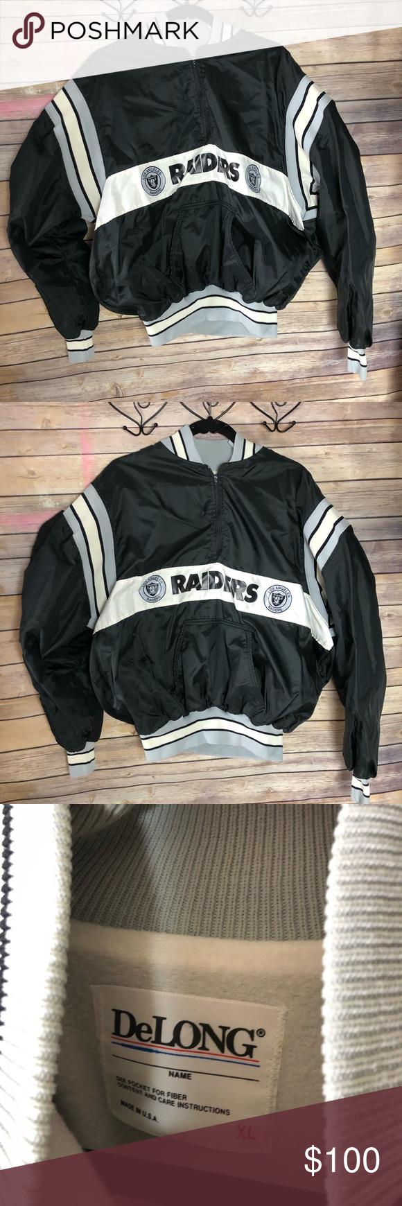Vintage Los Angeles Raiders Jacket Jackets Pullover Jacket Vintage Los Angeles