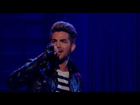 #LateLateShow with James Corden 2015 Adam Lambert's Tribute: We Are The Champions - YouTube