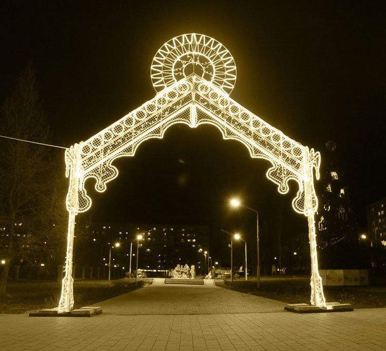 christmas street lights warm white led light arch