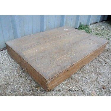 coffre boite en bois pour rangement sous un lit le. Black Bedroom Furniture Sets. Home Design Ideas