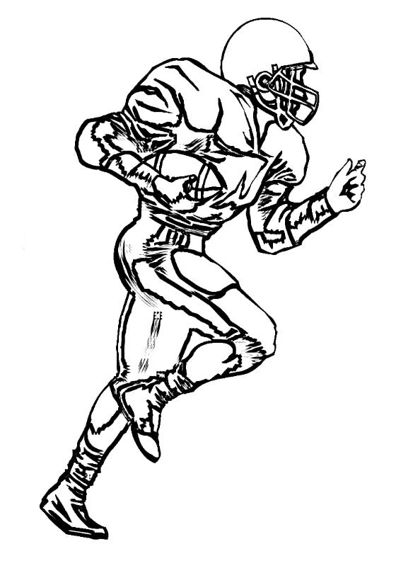 wide receiver football coloring pages - photo#3