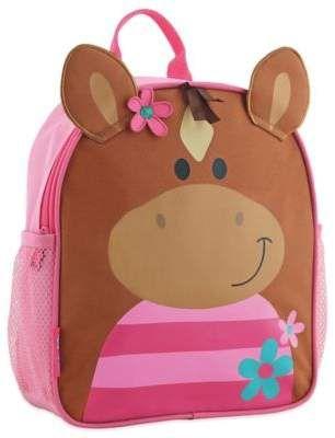 b8d2a67ce9 Stephen Joseph Horse Mini Sidekick Backpack in Brown Pink