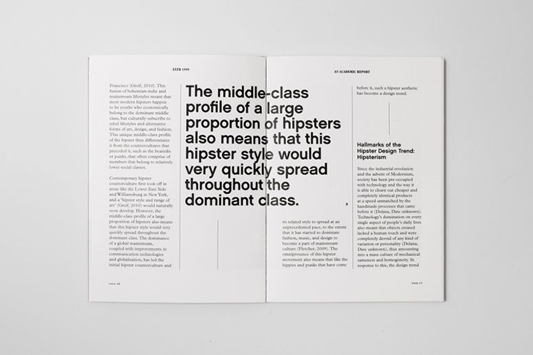 Estd 1999: An Academic Report