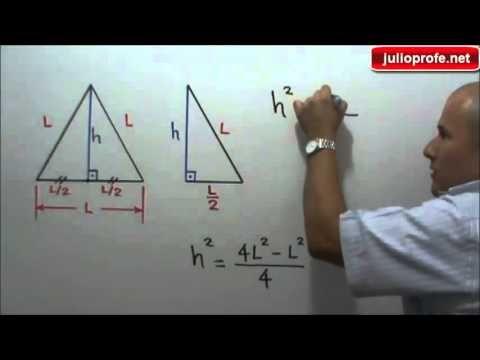 Area De Un Triangulo Equilatero En Funcion De Su Lado Julio Rios