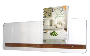 Clear Acrylic Simple With A Wooden Base This Can Be Built Easily Magazine Racksclear Acrylicwall Mountoffice