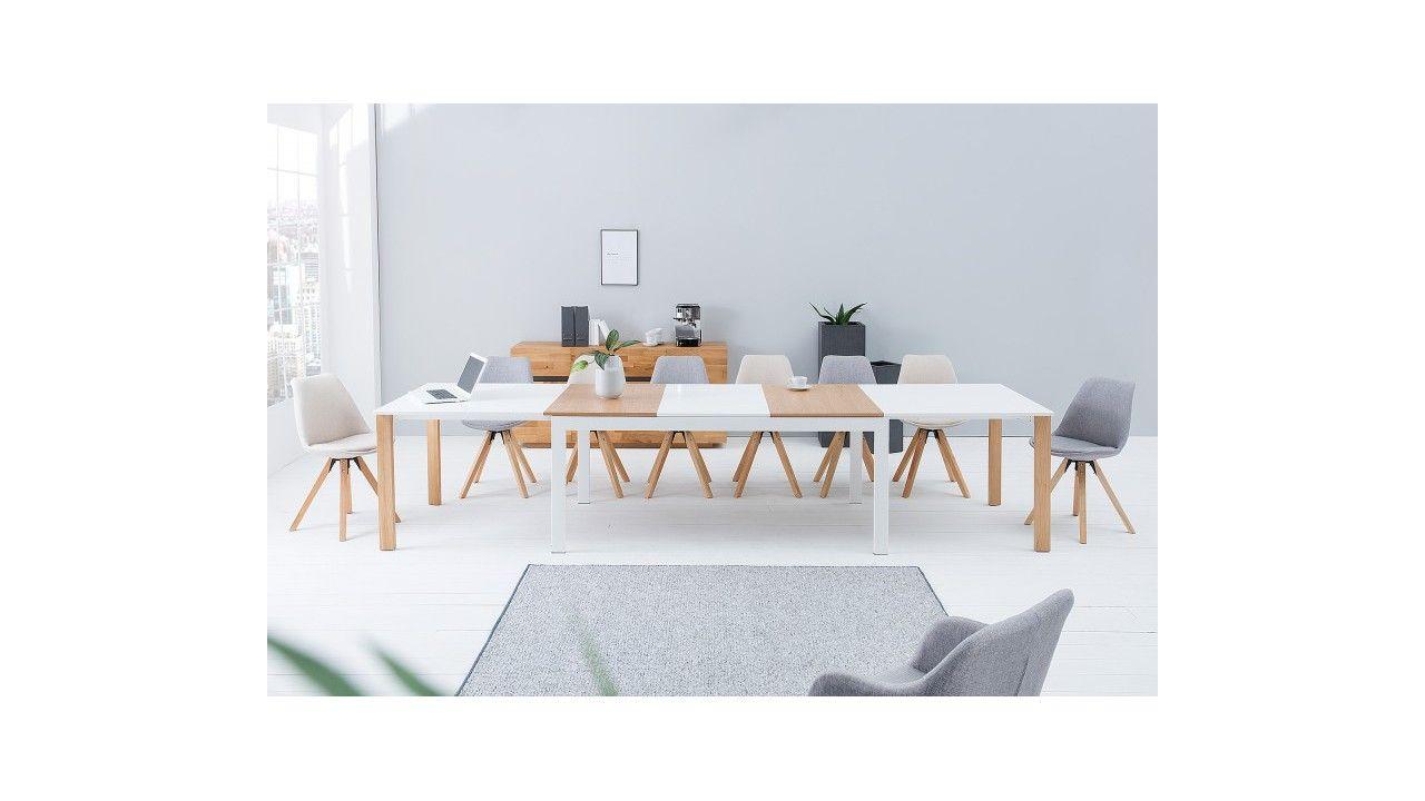 Grande Table Extensible En Verre Et Bois Style Scandinave Salle A Manger Design Table Design Extensible Table Salle A Manger