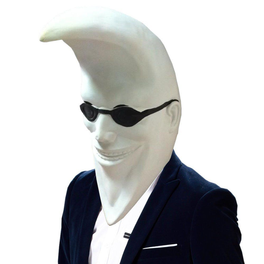 Amazon.com: SHEENROAD Magic Man's Mr. Moon Latex Mask: Toys ...