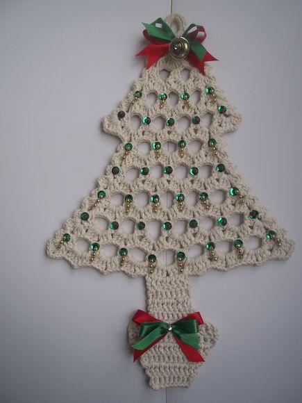 Enfeite Arvore De Natal Em Croche Com Imagens Decoracoes De