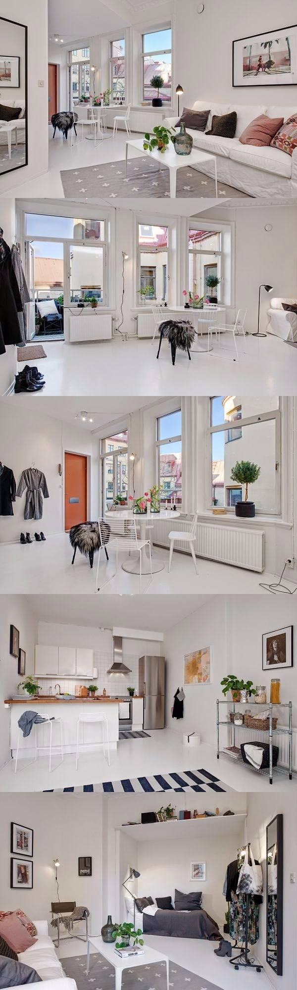 Paleta ideal para un apartamento pequeño / http://www.tres-studio ...