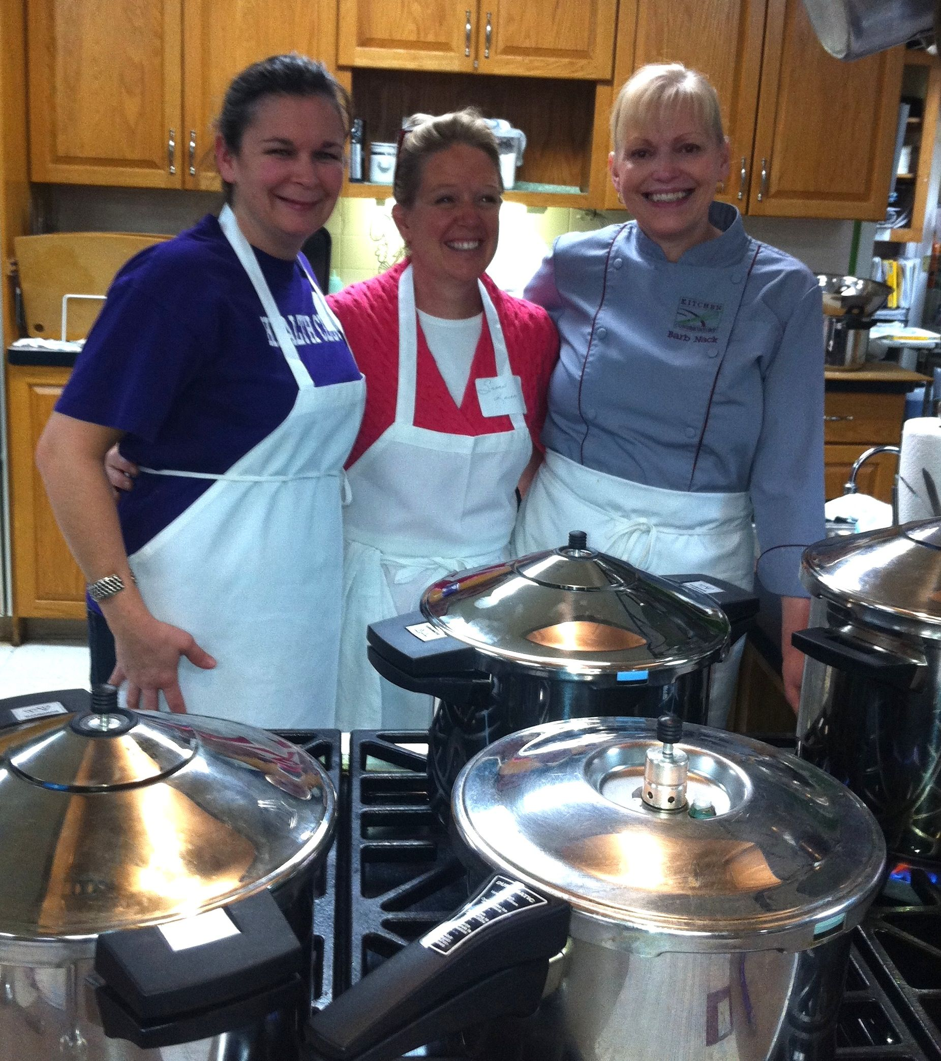 No pressure with Barb Nack, the director of our cooking school, as ...