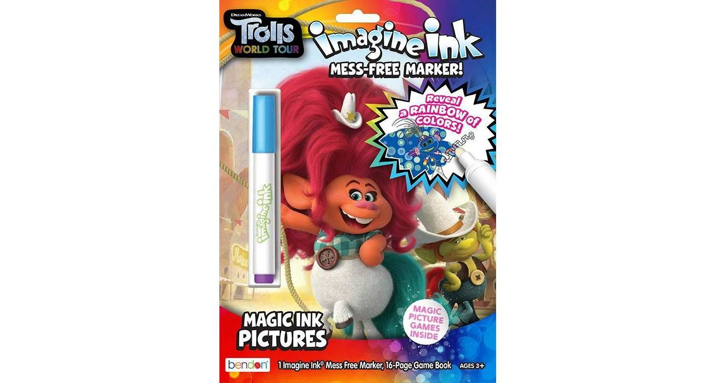 Trolls World Tour Imagine Ink Book Game Pictures Coloring Books Books