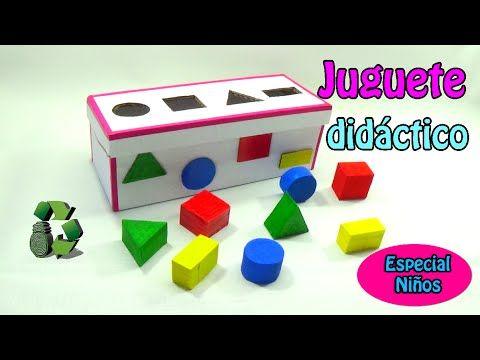 174 Manualidades Juguete didáctico con figuras geométricas