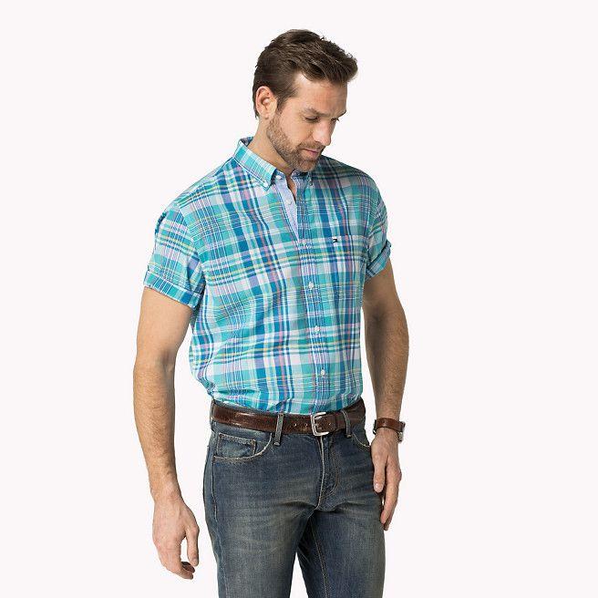 Tommy Hilfiger Big & Tall Burrow Camisa A Cuadros - maui blue/ classic white (Azul) - Tommy Hilfiger Tallas Grandes - imagen principal