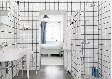 relooker salle de bain avec carrelage blanc joints noir en 2018 salle de bain pinterest. Black Bedroom Furniture Sets. Home Design Ideas