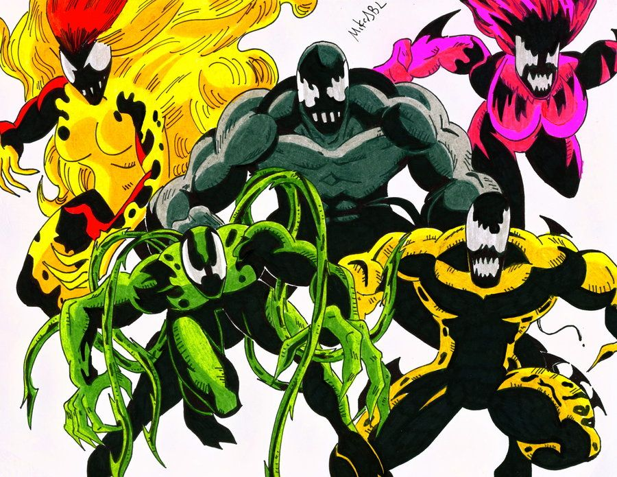 Image result for five venom symbiotes