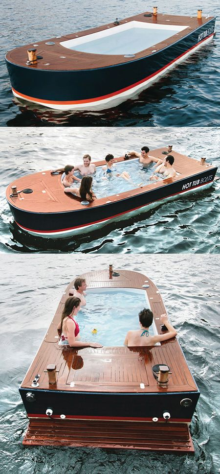 Hot Tub Boat >> Hot Tub Boat Is Perfect For Cold Winter Nights Costs 42 000 Hot
