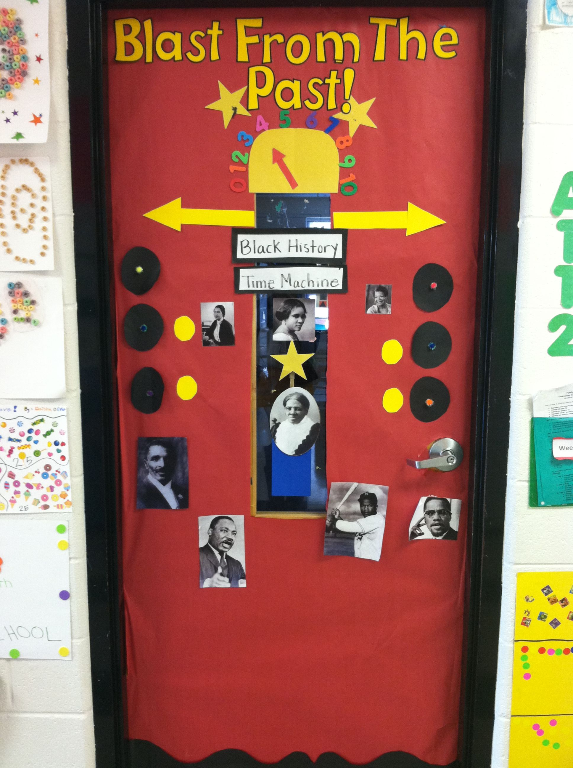 Black History Month Time Machine February Kindergarten Classroom Door