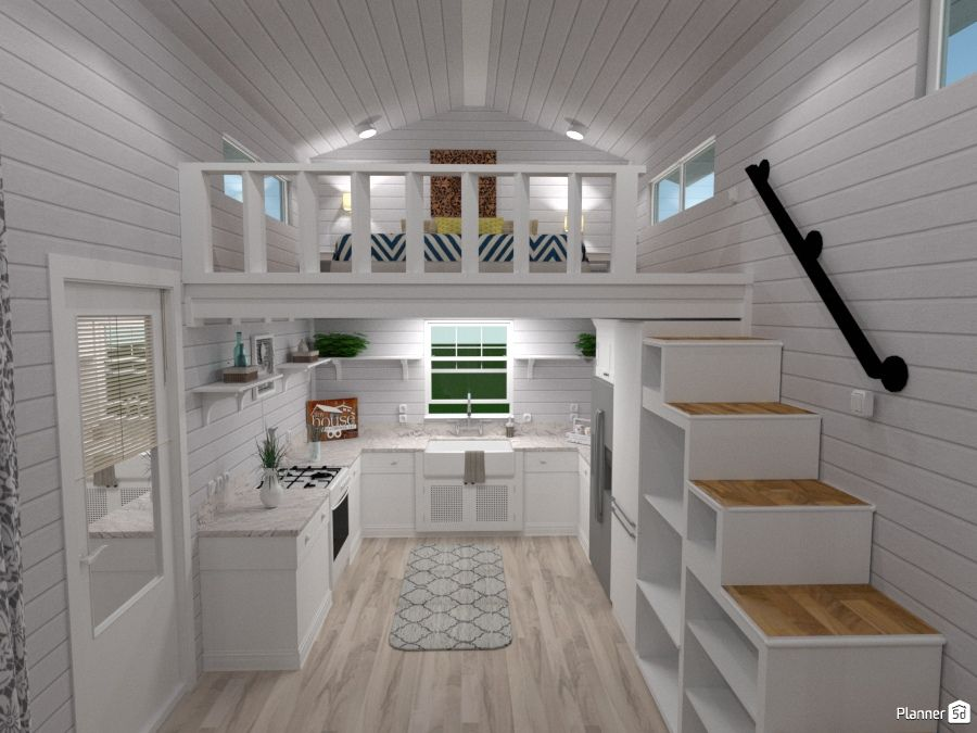 Architecture Tiny House Kitchen One Ideas Planner 5d Pertaining To Home Furniture Design 9 Faux Wood Floo Tiny House Loft Tiny House Furniture Tiny House Decor