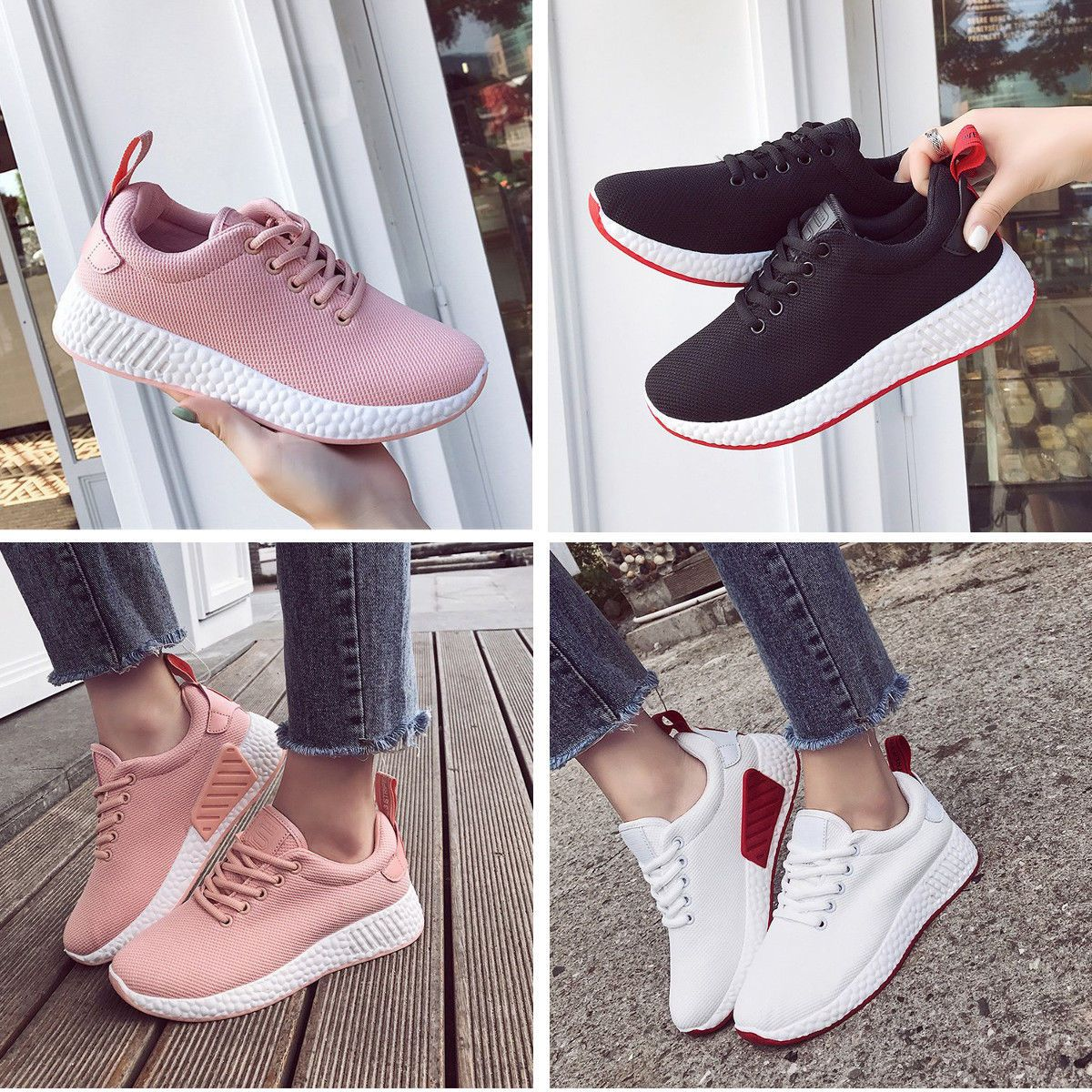 cheap for discount 55879 789c2 2018 Fashion New Women s Sneakers Sport Breathable Casual Running Outdoors  Shoes Womens Sports Fashion, Sport