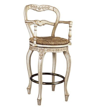 Awesome French Ladderback Bar Swivel Stool With Arms French Ncnpc Chair Design For Home Ncnpcorg