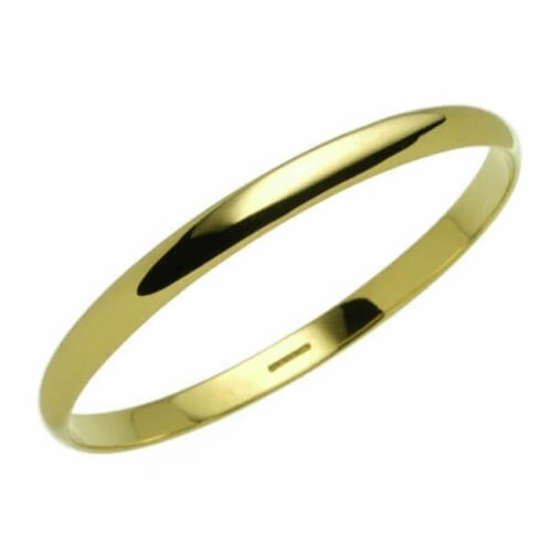 e41fd725c Solid 9ct yellow Gold 6mm D shape Bangle 23 grams | Jewels! | Gold, Flat  shapes, Bangles