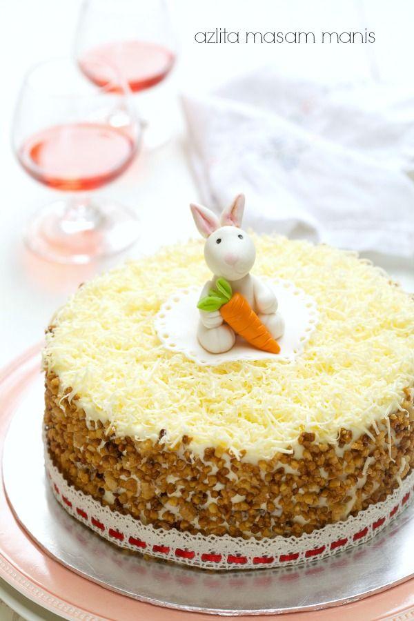 Masam Manis Cheezy Crunchy Carrot Cake Carrot Cake Cake