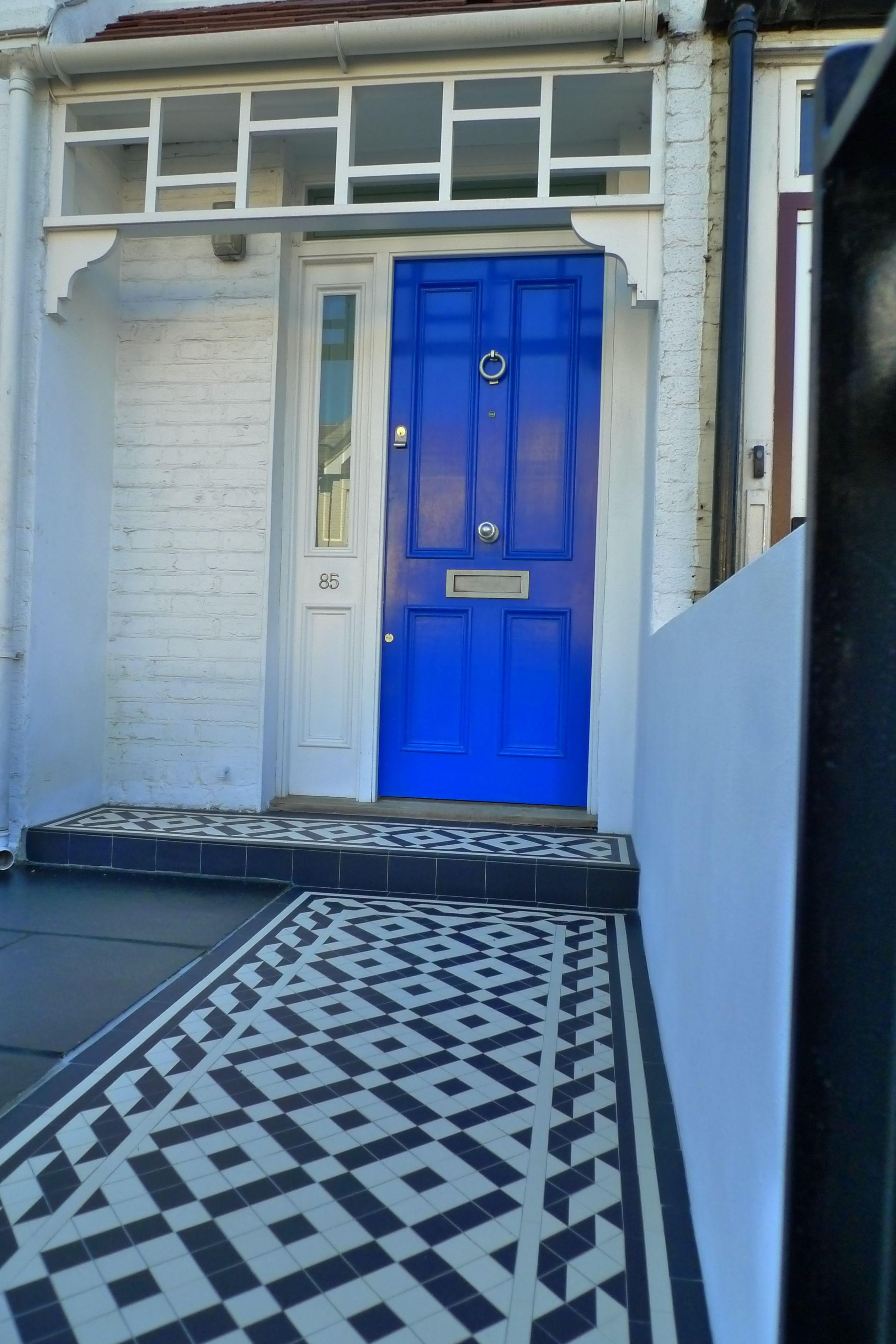 Teal hallway ideas  Pin by Anewgarden Ltd on Victorian Mosaic Entrance Hallway  Pinterest