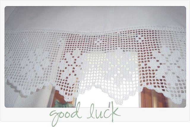 good luck geh kelt gardinen bord ren pinterest bord ren stricken und h keln und gardinen. Black Bedroom Furniture Sets. Home Design Ideas