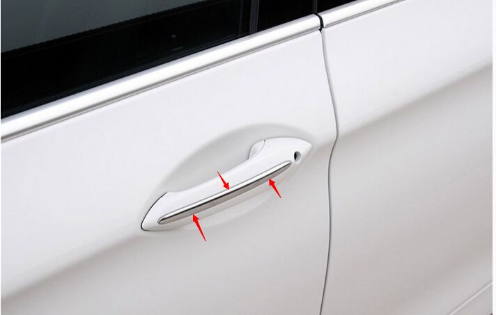 Door Handle Strip Trim 4pcs For Bmw 7 Series F01 2010 2015 Interior Accessories Door Handles Truck Accessories