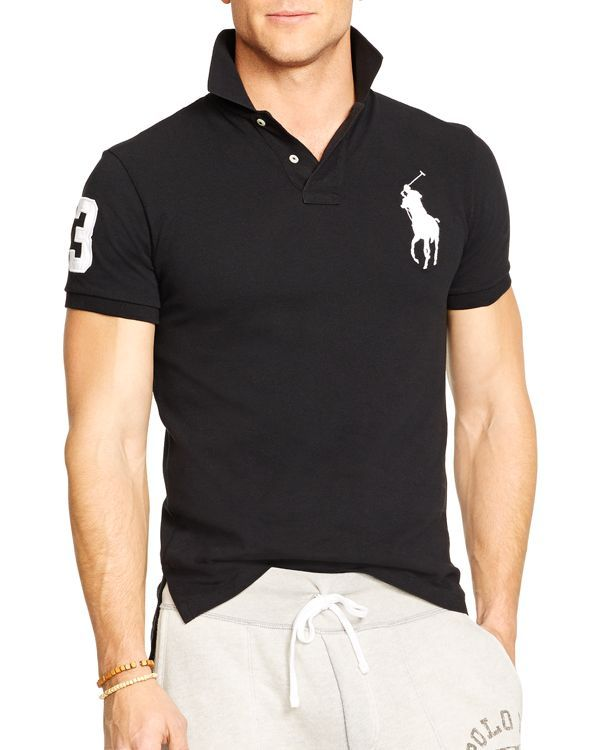 158067c1 Polo Ralph Lauren Custom-Fit Big Pony Mesh Polo Shirt - Slim Fit ...
