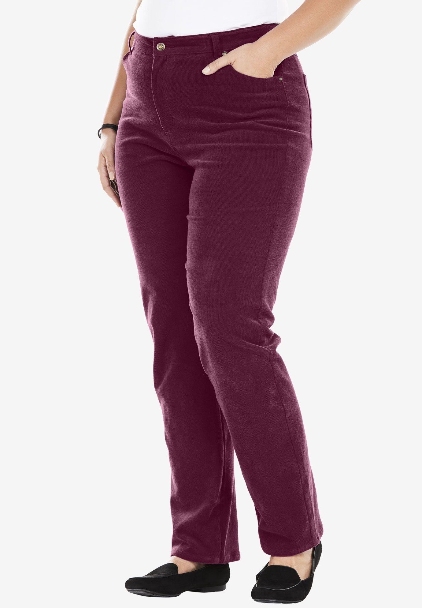 b79bd88ed77 Corduroy Straight Leg Stretch Pant - Women's Plus Size Clothing ...