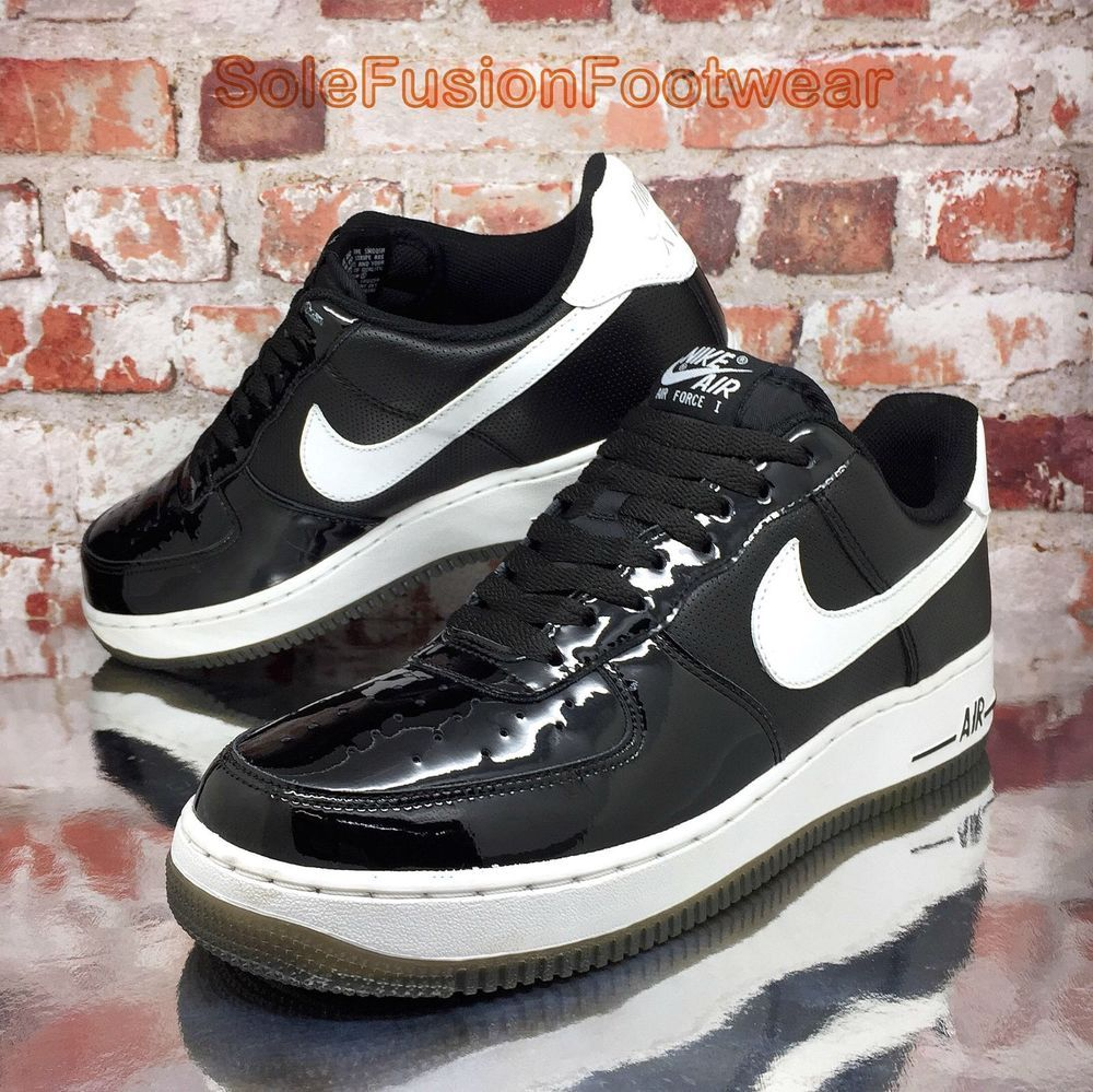 more photos 68500 42e2c Nike Mens Air Force 1 Patent Shoes Black sz 8 Trainers LTD Sneakers US 9 EU