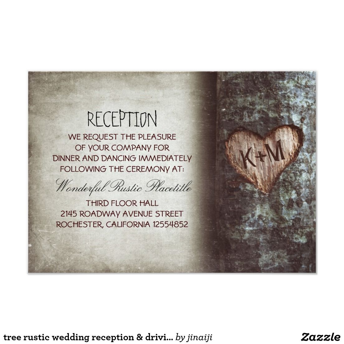 Tree Rustic Wedding Reception Driving Directions Country Wedding